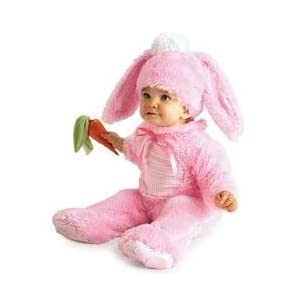 Pink Bunny Costume with Carrot Rattle - Rubies (0-6 month)