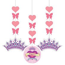 Her Highness Hanging Glitter Cutouts 3ct
