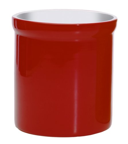Progressive International Porcelain Tool Crock, Red