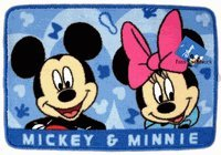 Disney Home Decor Area Carpet Mickey Mouse Rug Mat - Blue