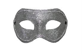 One Basic Silver Glitter Mask