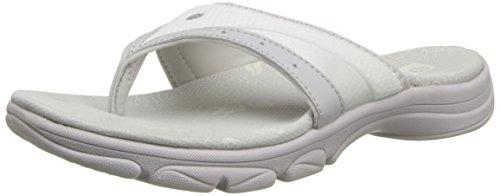 Bzees Women's Bay Flip Flop,White,8 M US