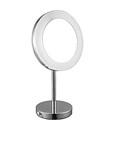 Nameek's Glimmer Free Standing Lighted 3X Makeup Mirror, Chrome