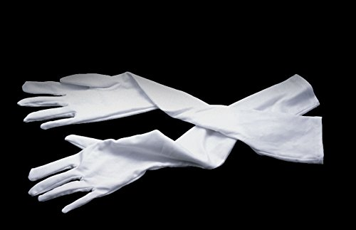 "Star Power Extra Long Princess Queen 1 Pair Gloves, White, One-Size (19"") - 1"