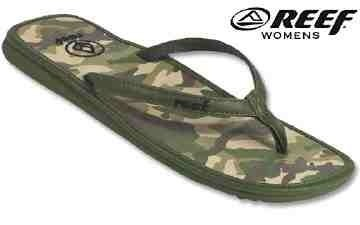 Reef Womens Gwava Sandals in Camo - Size 3 UK