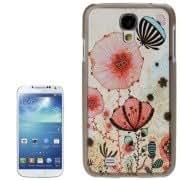 Illustration Flower Pattern Plastic Case for Samsung Galaxy S IV / i9500