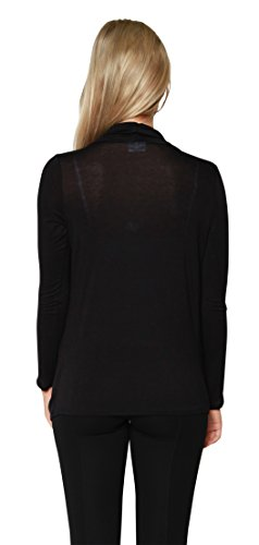 Free to Live Women's Lightweight Criss Cross Pullover Nursing Cardigan Top (Large, Black)