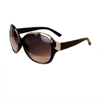 WXBUY Women's Oversized Metal Rivet Eyeglasses Round Sunglasses