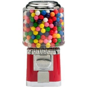 Classic Maroon Gumball and Bulk Candy Vending Machine
