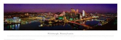 Pittsburgh Pennsylvania Art Poster Print by James Blakeway 40x14B0000WKO90