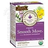 Traditional Medicinals Smooth Move Herbal Tea, Organic, Stimulant Laxative, 16 Ct.