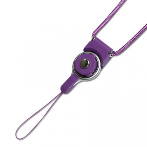Fashionable Universal Neck Strap Lanyard for Electronics Accessories CAMERA Cell Mobile Phone - Purple