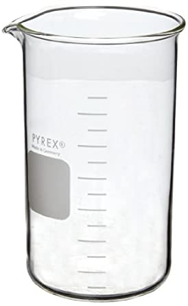 Corning Pyrex Borosilicate Glass Berzelius Tall-Form Graduated Beaker with Spout