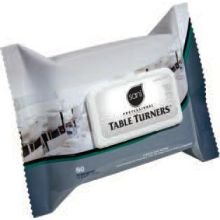 Table Turner Wet Wipes, 7 x 11 1/2, White, 60 Wipes/Pack, 12 Packs/Carton, Sold as 1 Carton