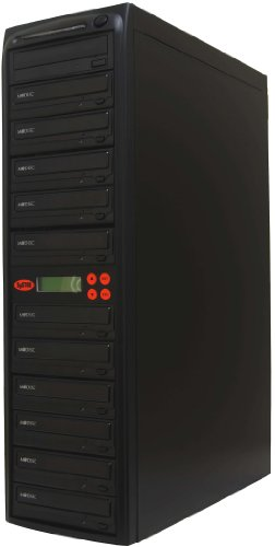 Systor 1-11 CD DVD Duplicator M-Disc Replication Recorder Copier Multiple 24X SATA Burner with USB Connection