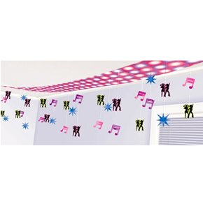 Disco Dancers Foil Ceiling Decoration Party Accessory