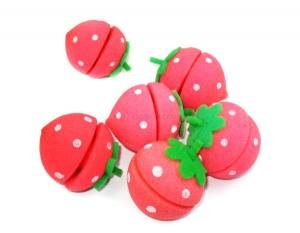 Strawberry Sponge Hair Curlers (6 Sponges)