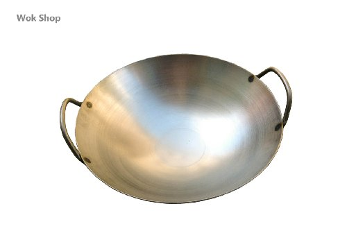 Carbon Steel Round Bottom Wok w/ 2 Loop Handles, USA Made (14 inch) (Wok Fire Ring compare prices)