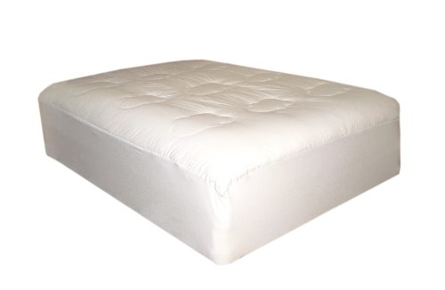 T240 Cotton Loft Mattress Pad, White, Queen