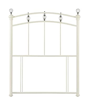 Happy Beds Sophie Metal Headboard Stone White Crystal Finials Bedroom Bed Divan
