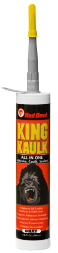 Red Devil 095650 King Kaulk Hybrid Polymer, 9.8-Ounce, Gray