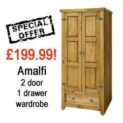 Amalfi 2 Door, 1 Drawer Wardrobe
