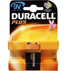 Duracell MN1604PLUS-B1 Duracell Plus Alkaline Battery 9V Size from Duracell