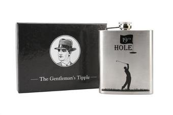 Hip Flask golf golfers Stainless Steel stag parties the 19th hole