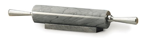 Rsvp Gray Marble Rolling Pin With Stand, 17 Inch front-565456