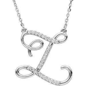 Z Alphabet In Diamond 14k White Gold Diamond Z