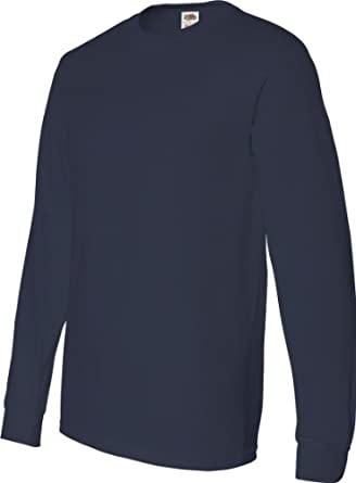 Fruit of the Loom 4930 Cotton Long-Sleeve T-Shirt - J Navy - S