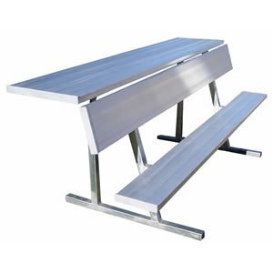 Jaypro Sports PBS-90 27 ft. Player Bench with Shelf by Jaypro