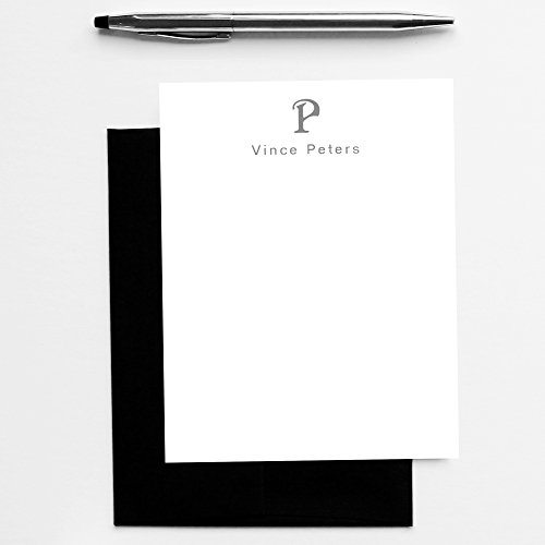 Personalized Stationary Men, Monogram Stationary Set, Mens Monogram Stationery, Mens Stationary Note Cards, Personalized Stationery for Men, Mens Stationery Set of 10 Note Cards with Envelopes (Personalized Stationary For Men compare prices)