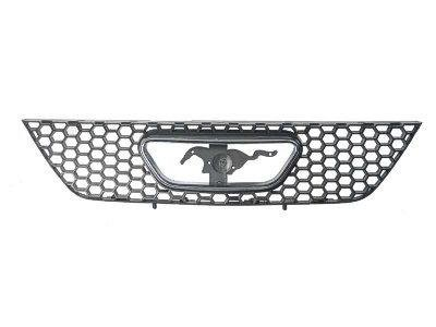 GRILLE Ford Mustang BLACK/CHROME; EXCEPT BULLITT EDITION. (WITHOUT MFR MANUFACTURER EMBLEMS / LOGOS. THEY ARE TRADEMARK PROTECTED.) (Bullitt Emblem compare prices)