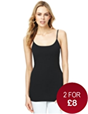 Fairtrade Cotton Rich Strappy Longline Vest with StayNEW™
