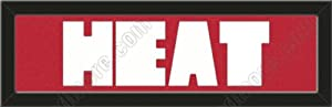 Miami Heat Memory Mat Customized Name Frame Or Purchase as -HEAT- Letters Cut Out To... by Art and More, Davenport, IA