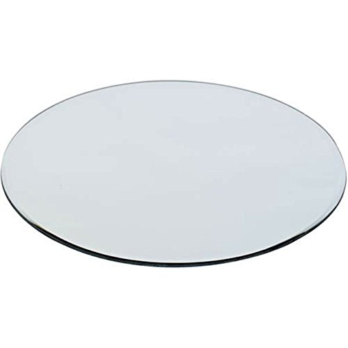 wgv mirror round plate with sanded anti chipping edges 12 inch new ebay. Black Bedroom Furniture Sets. Home Design Ideas