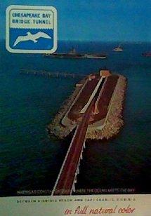 Chesapeake Bay Bridge-Tunnel In Full Natural Color