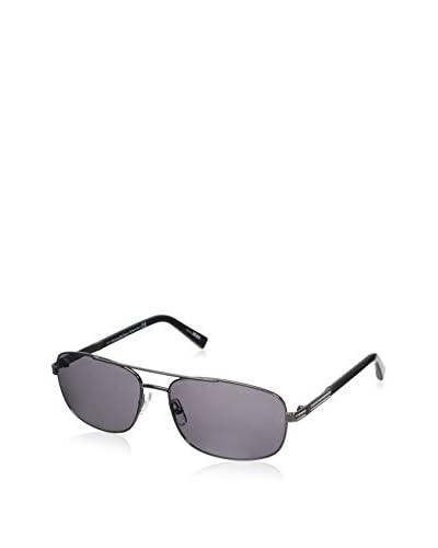 Ermenegildo Zegna Men's EZ0012 Sunglasses, Shiny Palladium/Smoke Polarized