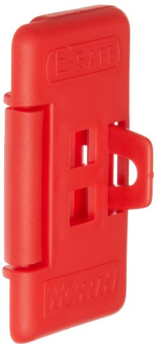 North Safety ES01 E-Safe Electrical Switch Lockout, Red (Pack of 6)