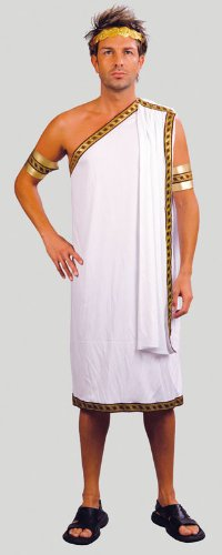 Adults Roman Emperor Julius Caesar Fancy Dress Costume - One Size Fits All