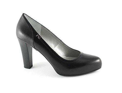 NERO GIARDINI 15351 nero scarpe donna decolletè tacco pelle 37