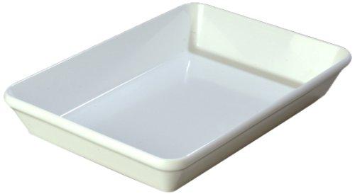 "Carlisle 792002 Designer Displayware Melamine Baker Dish, 4 Qt. Capacity, 14"" L X 9-1/2"" W X 2.3"" H, White (Case Of 4)"