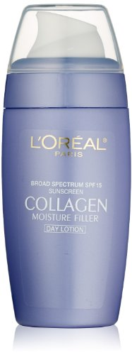 L'Oreal Paris discount duty free L'Oreal Paris Collagen Moisture Filler Lotion SPF 15, For All Skin Types,  2 Fluid Ounce