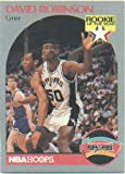 """David Robinson 1990-91 NBA Hoops """"Rookie of the Year"""" Card #270 (Spurs)"""