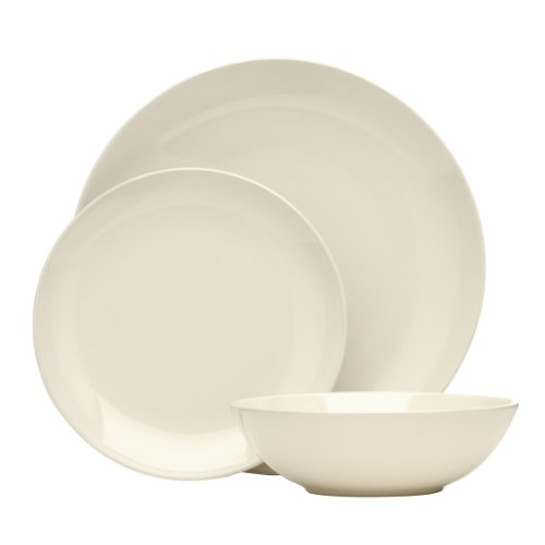 Premier Housewares 12-Piece Dinner Set, Ivory