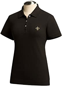 NFL New Orleans Saints Ladies Ace Polo, Black by Cutter & Buck