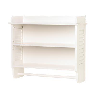 Gifts & Decor Nantucket Home White Bathroom Wall Shelf Towel Holder