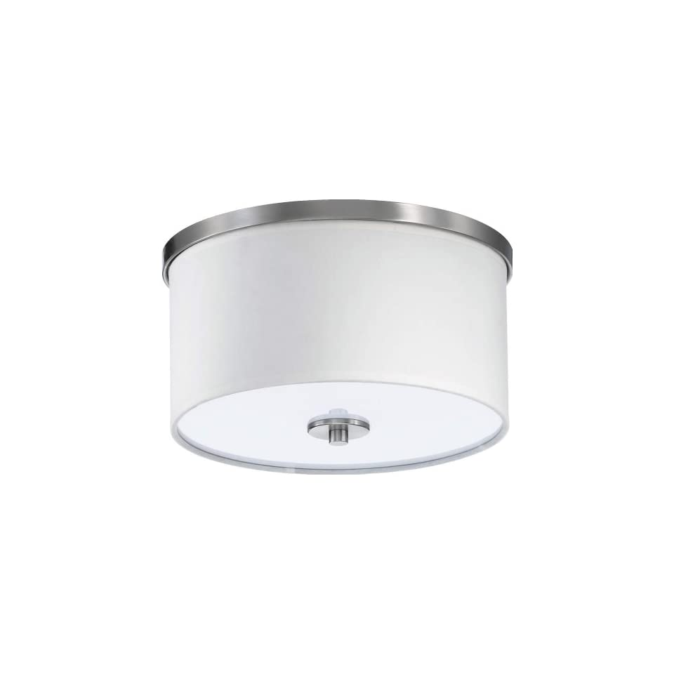 Quorum 658 11 65   Modern Ceiling Mount   1 Light   Satin Nickel Finish   Cirrus Collection   Close To Ceiling Light Fixtures