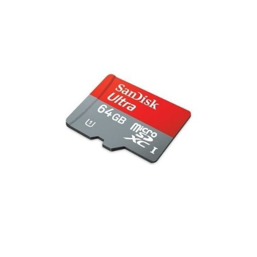 SanDisk Ultra 64 GB microSDXC Class 10 UHS-1 Memory Card 30MB/s with Adapter SDSDQUA-064G-U46A